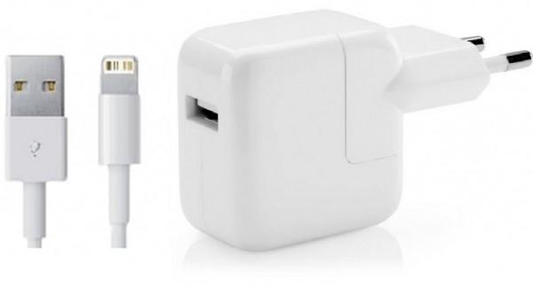 Ladegerät und Kabel für iPad (lightning)